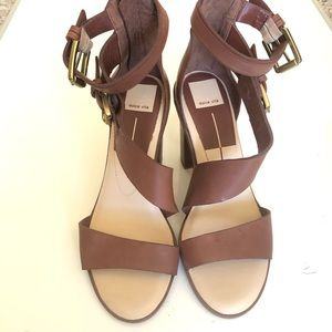 Dolce Vita Brown Leather Strappy Heels